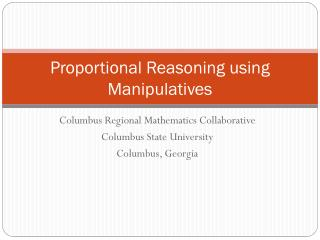 Proportional Reasoning using Manipulatives