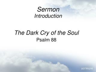 Sermon Introduction