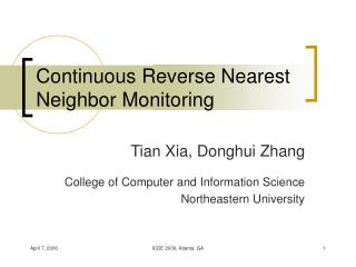 Continuous Reverse Nearest Neighbor Monitoring