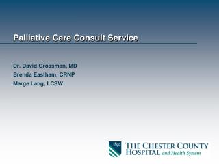 Palliative Care Consult Service