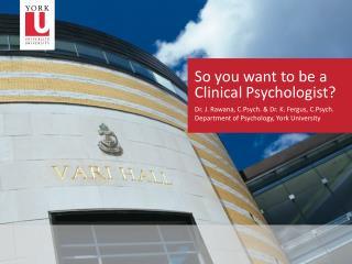 So you want to be a Clinical Psychologist?