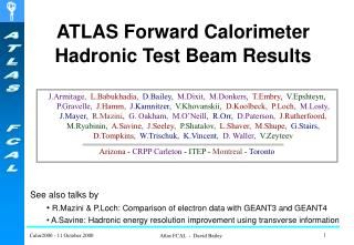 ATLAS Forward Calorimeter Hadronic Test Beam Results