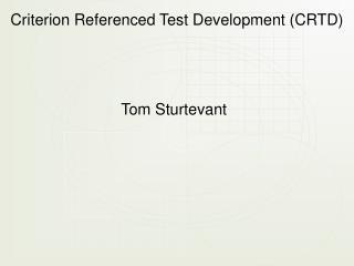 Tom Sturtevant