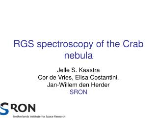 RGS spectroscopy of the Crab nebula