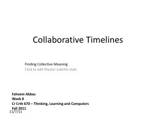 Collaborative Timelines