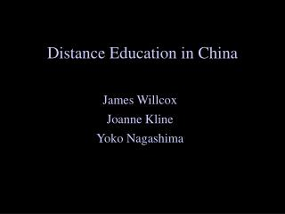 Distance Education in China