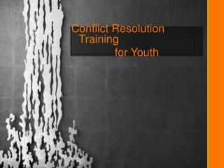 Conflict Resolution Training for Youth