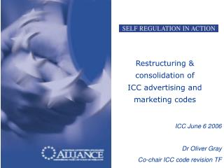 Restructuring & consolidation of  ICC advertising and marketing codes