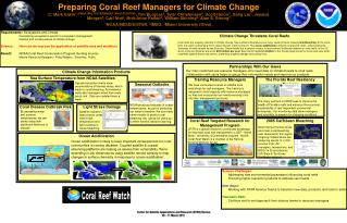 Requirements:   Ecosystems and Climate 			Forecasting ecosystems events for ecosystem management