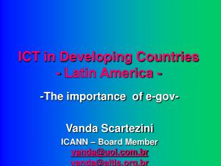 ICT in Developing Countries - Latin America -