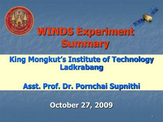WINDS Experiment Summary