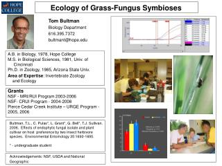 Ecology of Grass-Fungus Symbioses