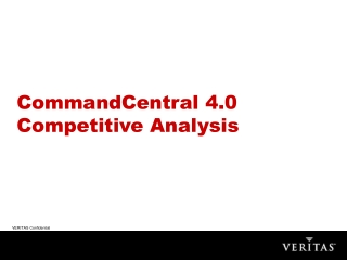 CommandCentral 4.0 Competitive Analysis