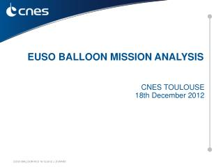 CNES TOULOUSE    18th December 2012