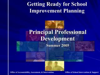 Principal Professional Development Summer 2005