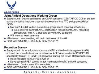 Joint Airfield Operations Working Group