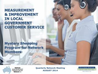 Quarterly Network  Meeting AUGUST 2014
