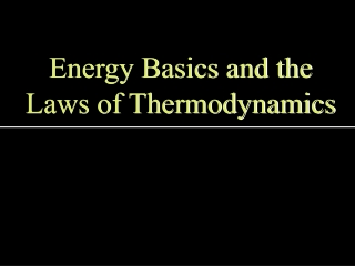 Energy Basics and the Laws of Thermodynamics