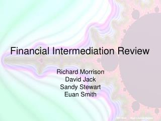 Financial Intermediation Review