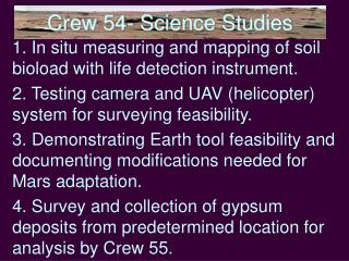Crew 54- Science Studies