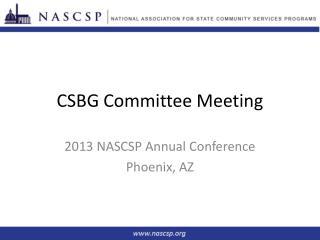 CSBG Committee Meeting