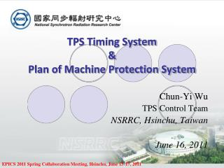 TPS Timing System & Plan of Machine Protection System
