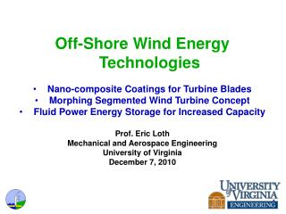 Off-Shore Wind Energy Technologies Nano-composite Coatings for Turbine Blades