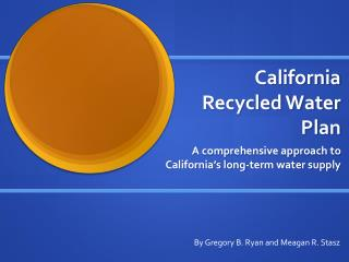 California  Recycled Water   Plan