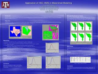 Application of HEC-HMS in Watershed Modeling