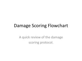 Damage Scoring Flowchart