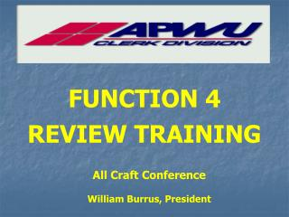 FUNCTION 4 REVIEW TRAINING