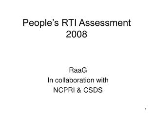 People's RTI Assessment 2008
