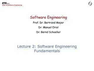 Lecture 2: Software Engineering Fundamentals