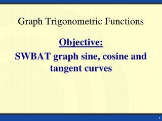 Graph Trigonometric Functions