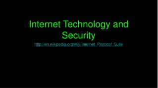 Internet Technology and Security