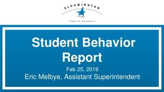 Student Behavior Report