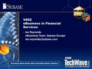 V602 eBusiness in Financial Services