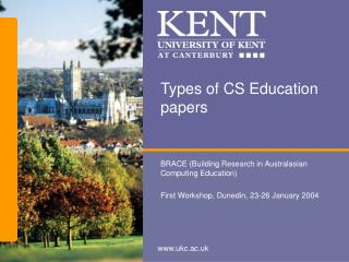 Types of CS Education papers