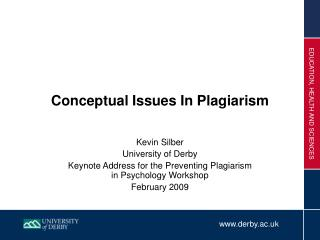 Conceptual Issues In Plagiarism