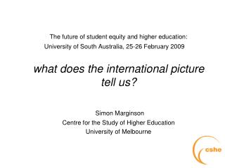 The future of student equity and higher education:
