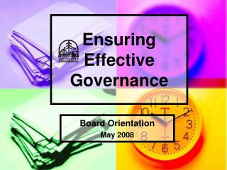 Ensuring  Effective Governance