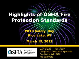 Highlights of OSHA Fire Protection Standards