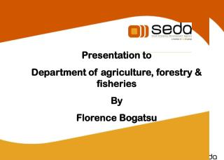 Presentation to  Department of agriculture, forestry & fisheries By Florence Bogatsu