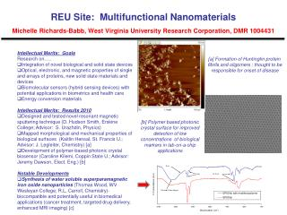 Intellectual Merits: Goals Research on….. Integration of novel biological and solid state devices