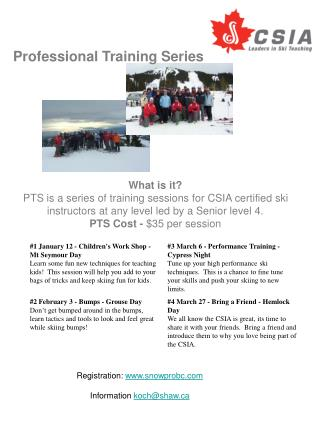Professional Training Series
