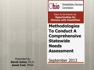 Methodologies To Conduct A Comprehensive Statewide Needs Assessment September 2013