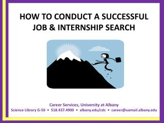 HOW TO CONDUCT A SUCCESSFUL JOB  INTERNSHIP SEARCH
