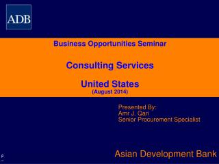 Business Opportunities Seminar Consulting Services United States (August 2014)