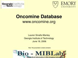 Oncomine Database www.oncomine.org