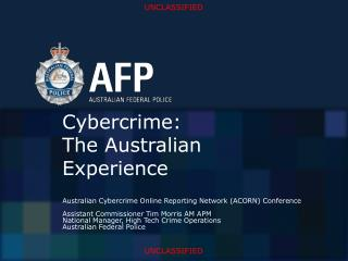Cybercrime: The Australian Experience